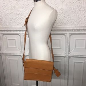Vintage Ralph Lauren Brown Leather Crossbody Bag